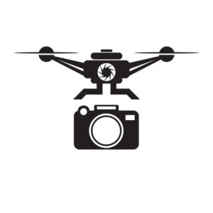 A graphic of a drone and a camera